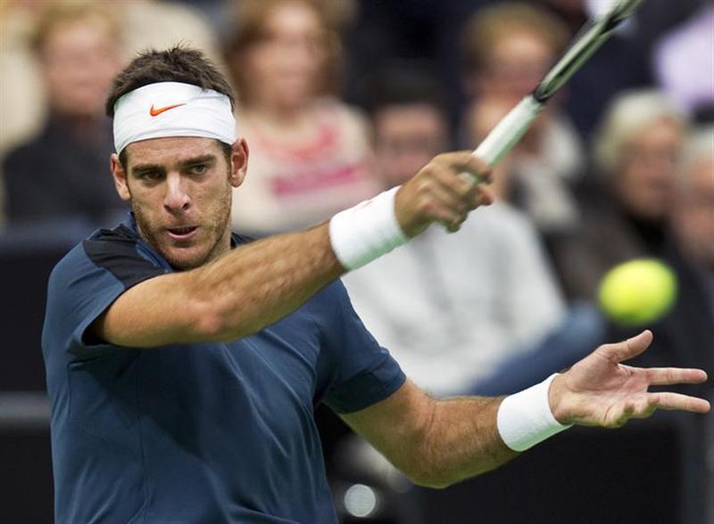 テニス=世界インドア、第2シードのデルポトロが決勝進出